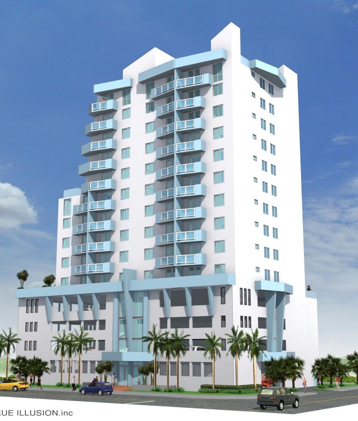 YOSVANY TEIJEIRO 1800 Club Condo Miami 3D renderings pespective view 2 2004