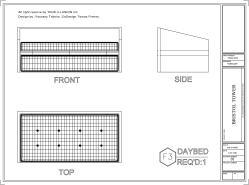 DAY BED Shop Drawings, Bristol Tower Miami, Design by YOSVANY TEIJEIRO