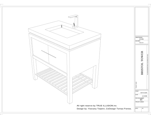 YOSVANY TEIJEIRO Bristol Tower Miami, Furniture Design Sink Cabinet 2009