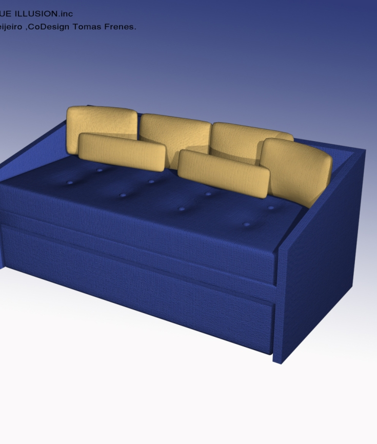 SOFA/DAY BED Bristol Tower Miami, Furniture Design by YOSVANY TEIJEIRO 2009