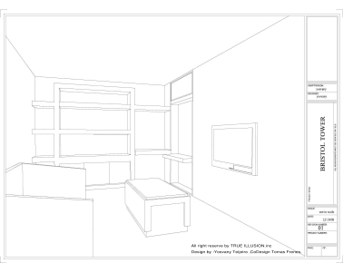 YOSVANY TEIJEIRO Bristol Tower Miami, Furniture Design Wall Unit 2009 1