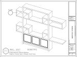 WALL UNIT, Shop Drawings, Bristol Tower Miami, Design by YOSVANY TEIJEIRO