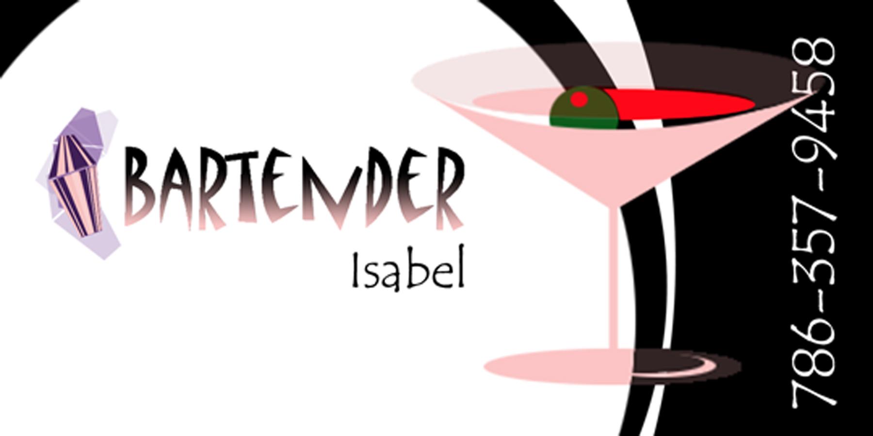 Bartender Business Card Design By Yosvany Teijeiro 2004
