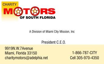 CHARITY MOTORS OF SOUTH FLORIDA Design by Yosvany Teijeiro0 2008