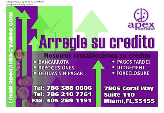 YOSVANY TEIJEIRO apex credit graphic design business card miami 2008 2