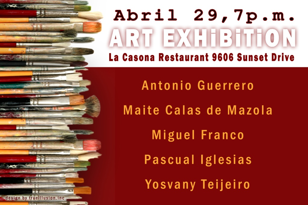 YOSVANY TEIJEIRO ART EXHIBITION FLYER, Miami 2011