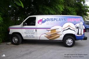 YOSVANY TEIJEIRO Car Banner Display Depot Graphic Design 2009