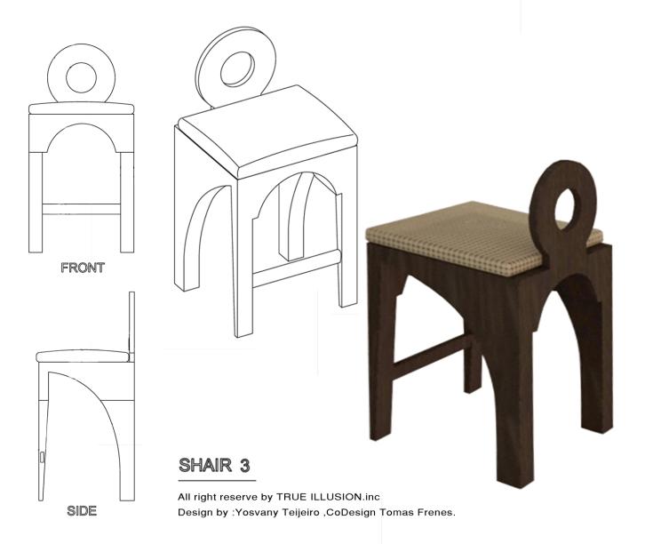 Contemporary Style Chair, YOSVANY TEIJEIRO 2011