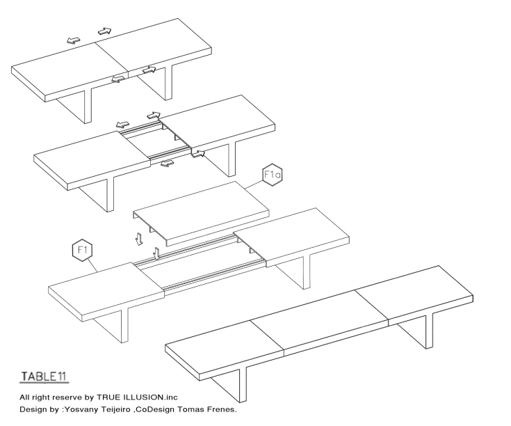 EXTENDABLE TABLE, Modern Furniture
