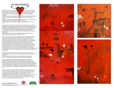 YOSVANY TEIJEIRO graphic design antonio guerrero flyer 2010
