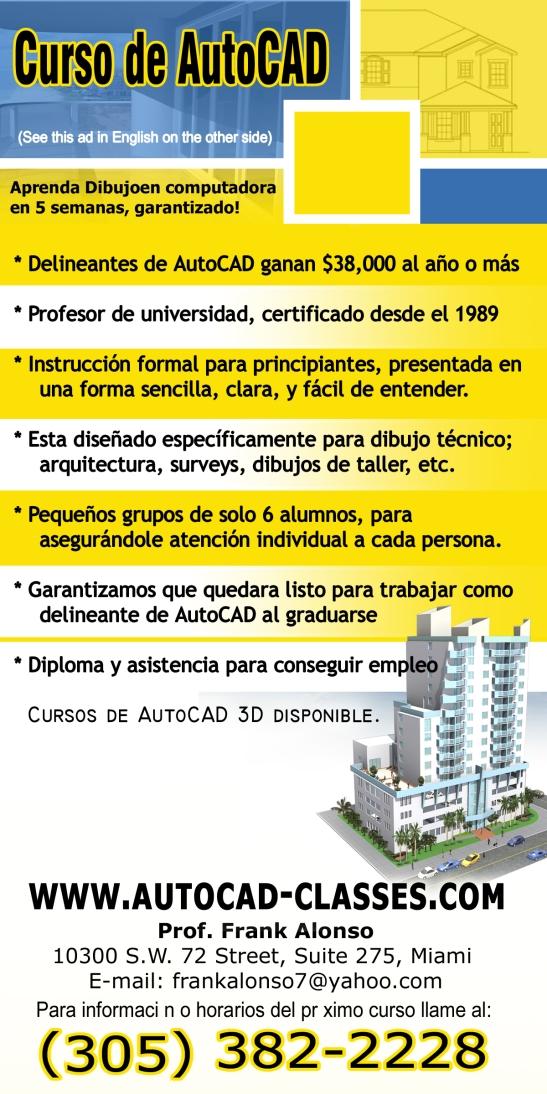 YOSVANY TEIJEIRO AutoCad Clases Flyer, Graphic Design, Miami 2007
