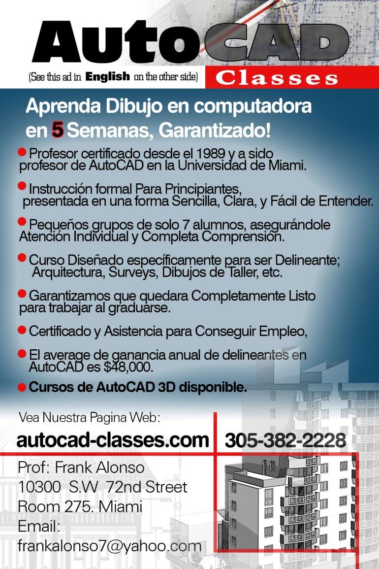 YOSVANY TEIJEIRO AutoCad Clases Flyer, Graphic Design, 2007