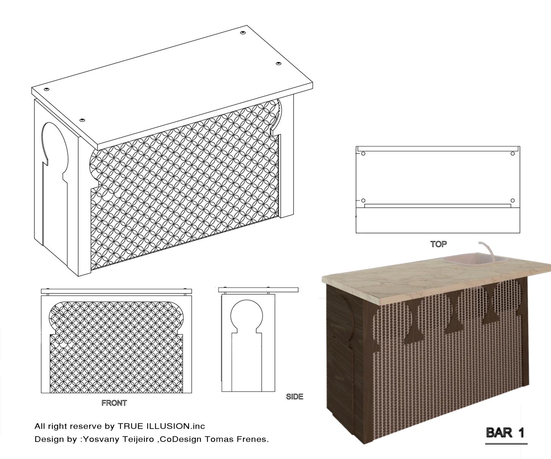 "MOORISH STYLE HOME BAR"", Furniture Design, 2011 | TRUE ILLUSION"