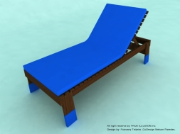 YOSVANY TEIJEIRO Pool Lounge Chair, Miami 2010