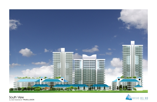 YOSVANY TEIJEIRO 3D Render South View Brisas del Rio
