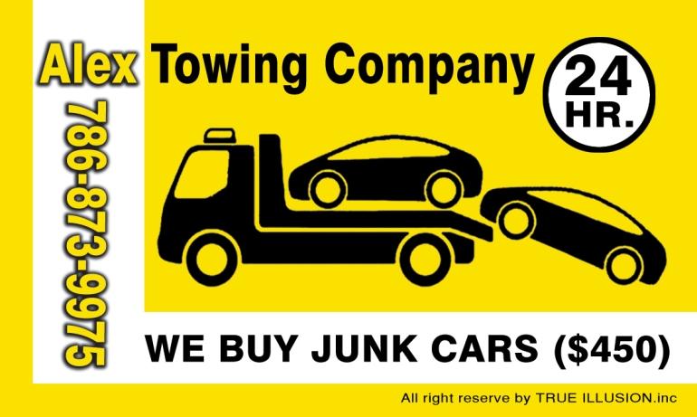 YOSVANY TEIJEIRO Towing Service, Business card 2011