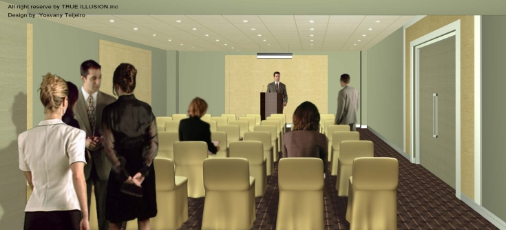 YOSVANY TEIJEIRO Truillusion 3D renderings for a meeting room, 2007