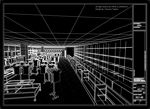 Yosvany Teijeiro Fashion Clothing Store Design Trueillusion Inc 2011 (pesrpective view)