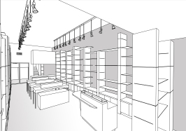 """BAL HARBOUR FLOWER SHOP"" Design by Yosvany Teijeiro 2012 (perspective view) 3"