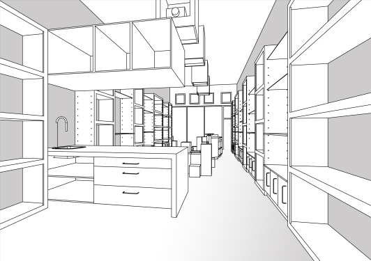 """BAL HARBOUR FLOWER SHOP"" Design by Yosvany Teijeiro 2012 (perspective view) 8"
