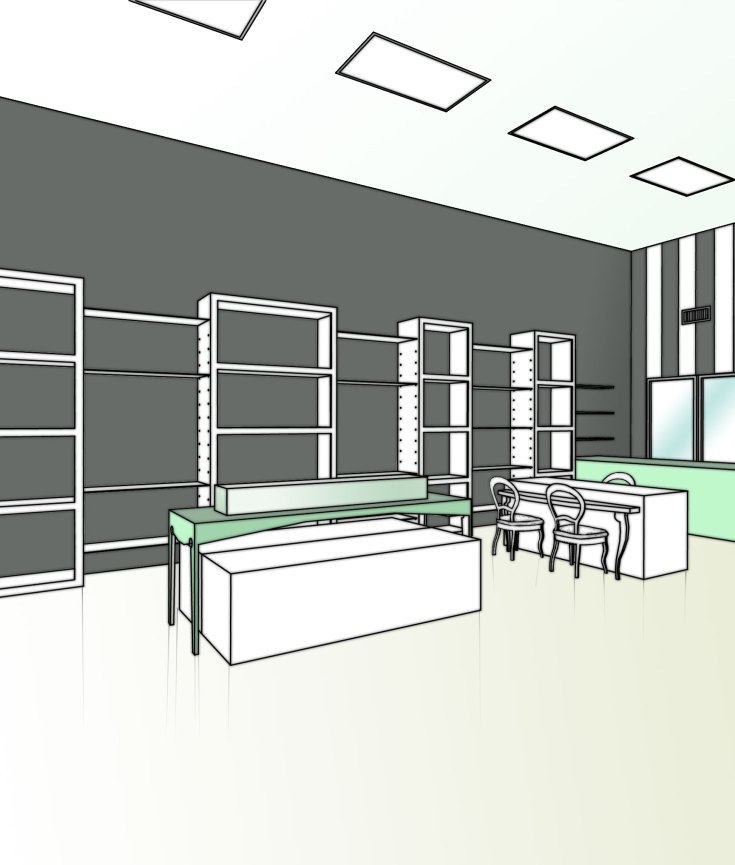 """BAL HARBOUR FLOWER SHOP"" Design by Yosvany Teijeiro 2012 (perspective view)"