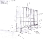 """BAL HARBOUR FLOWER SHOP"" Design by Yosvany Teijeiro 2012. Wall unit sketch"