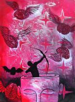 Acrylic on paper Contemporary Cuban artist Yosvany Teijeiro