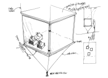 Display, furniture design concept.
