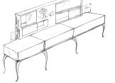 Show case, furniture design concept