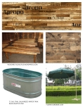 Outdoor Furniture and Materials, Presentation Board.