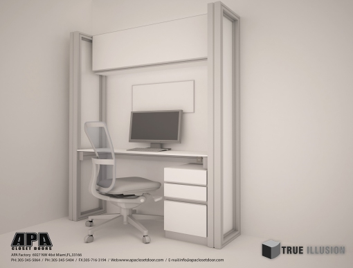 3D Render/Desk Station Detail