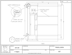 Shop Drawing. Property of True Illusion, Inc.