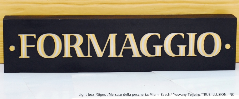 LIGHT BOX / SIGNS / MERCATO DELLA PESCHERIA / MIAMI BEACH