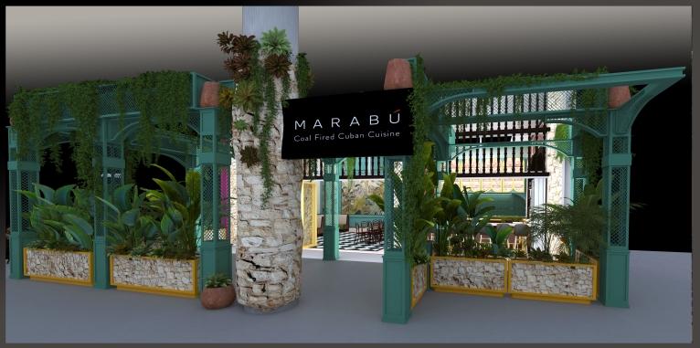 """MARABU"" Coal Fire Cuban Cuisine-3D Render"