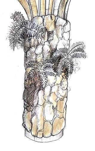 Organic Column-Conceptual Sketch